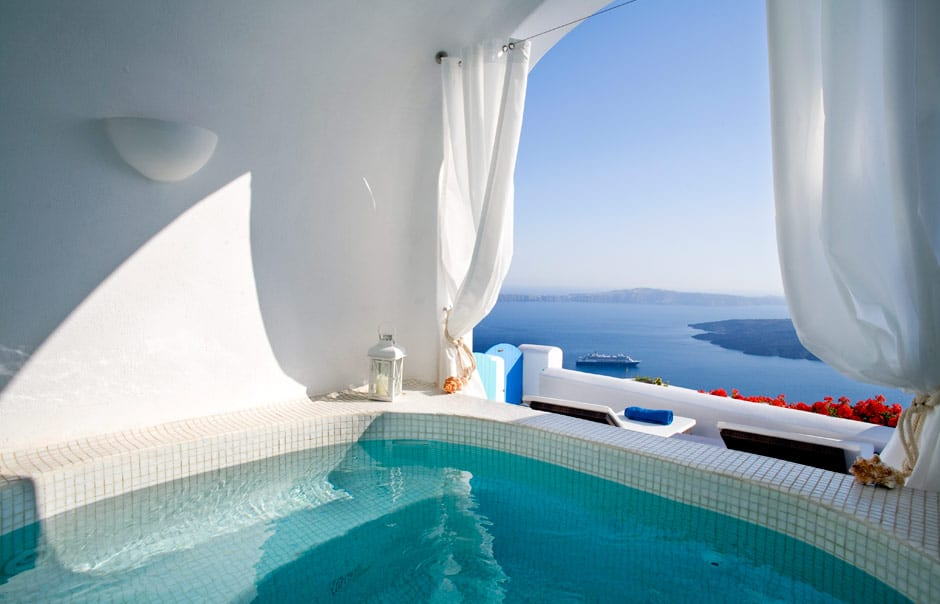 Dreams luxury suites santorini luxury hotels for Griechenland design hotel